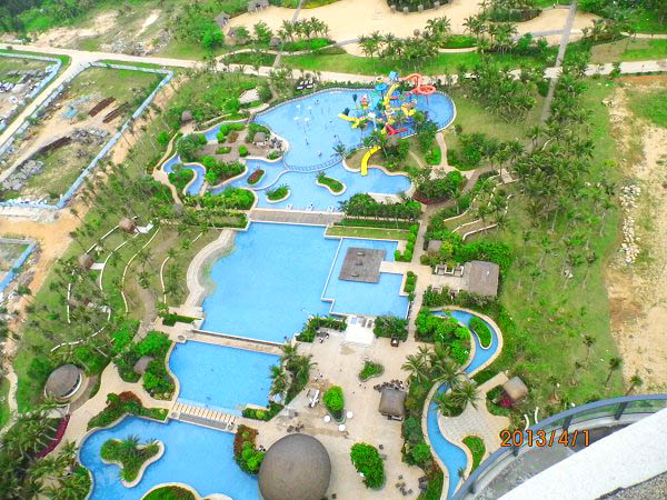 博鳌亚洲湾园林建筑工程鸟橄图