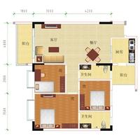 3室2厅2卫  101.15平米