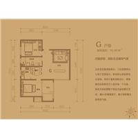 2室2厅1卫  91.4平米