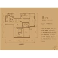 2室2厅1卫  104.33平米