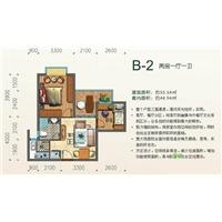 2室1厅1卫  55.54平米