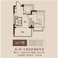 1室1厅1卫  36.43平米