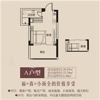 1室1厅1卫  26.85平米