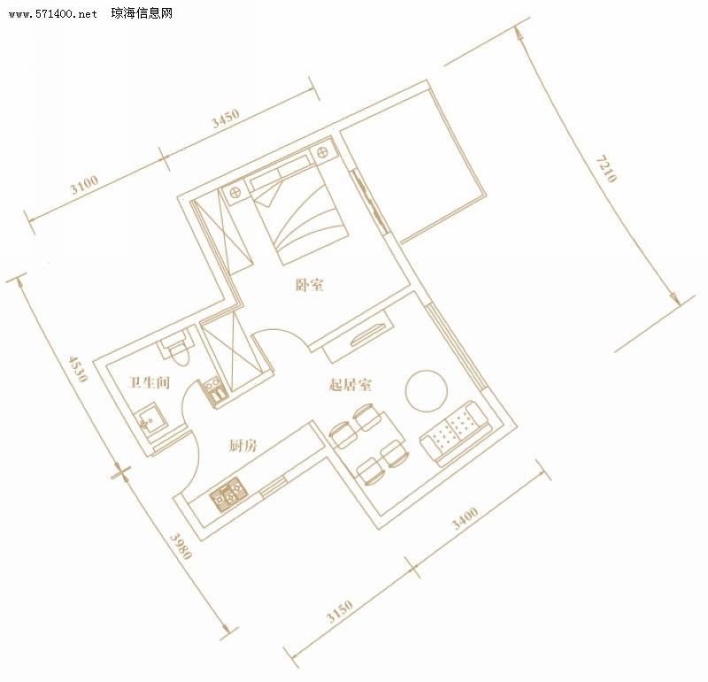 棕榈半岛国际公寓 - 户型