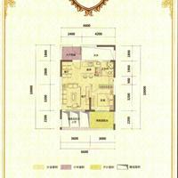 1室2厅1卫 56.19平米
