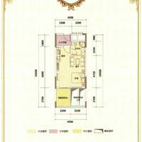 1室1厅1卫 37.58平米