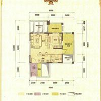 1室1厅1卫  57.78平米