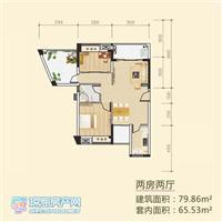 2室2厅1卫  79.86平米
