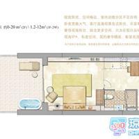 1室1厅1卫 57.9平米