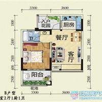 1室2厅1卫  53平米