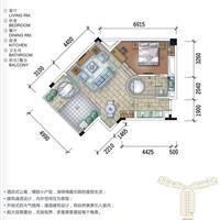 1室2厅1卫  97.88平米