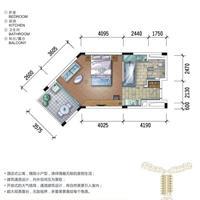 1室1厅1卫  77.86平米