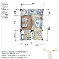 1室2厅1卫  94.28平米