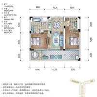 2室2厅1卫  121.1平米