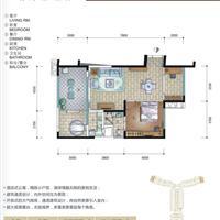 2室2厅1卫 110平米