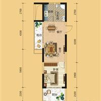 1室1厅1卫  69.2平米