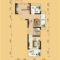 1室1厅1卫  74.3平米