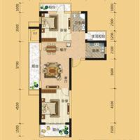 2室1厅1卫  94平米