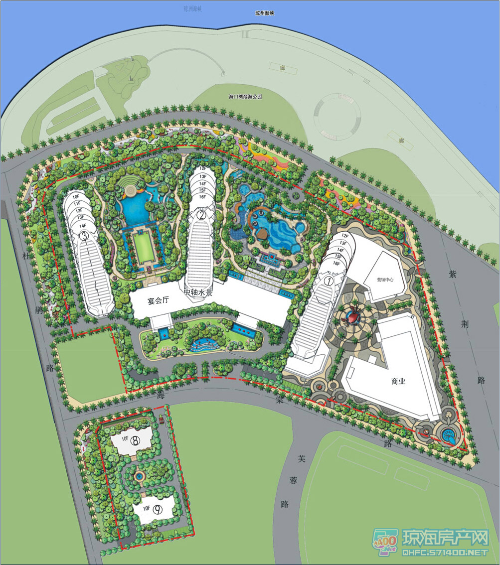 恒大海口湾项目平面规划图