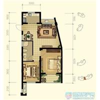 2室2厅1卫  87平米