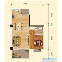 1室2厅1卫  70.8平米