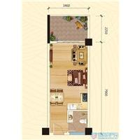 1室1厅1卫  45.96平米